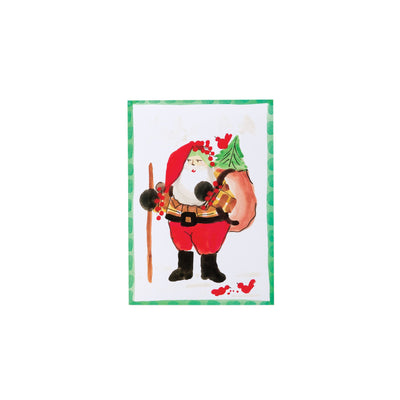 Old St Nick Gift Sack Greeting Cards by VIETRI