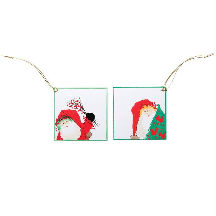 Old St Nick Santa Holiday Cheer Gift Tag Set by VIETRI
