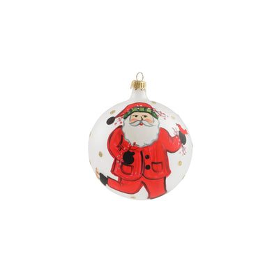 Old St. Nick Ice Skating Ornament by VIETRI