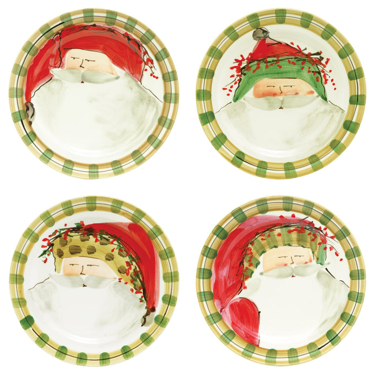 Old St Nick Assorted Dinner Plates - Set of 4 by VIETRI