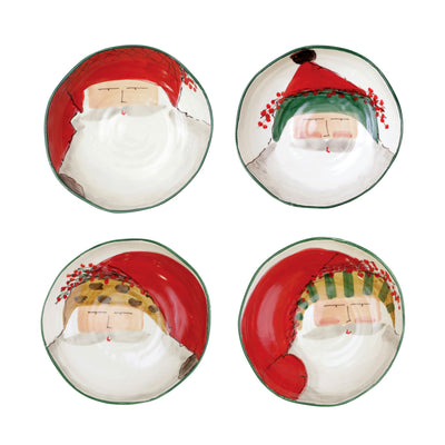 Old St. Nick Assorted Pasta Bowls - Set of 4 by VIETRI