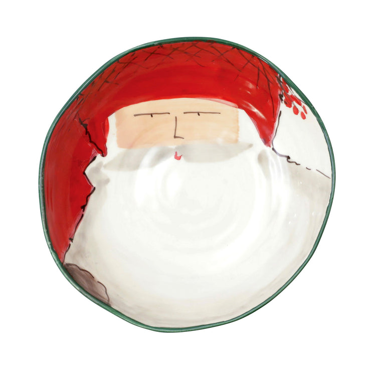 Old St. Nick Pasta Bowl - Red Hat by VIETRI