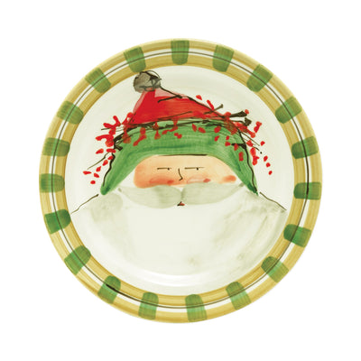 Old St. Nick Dinner Plate - Green by VIETRI