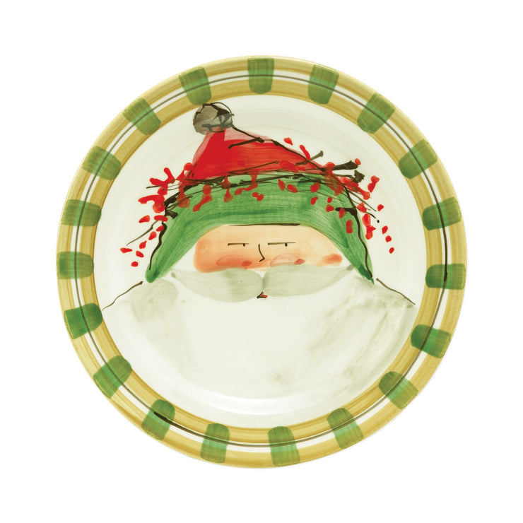 Old St Nick Dinner Plate - Green by VIETRI