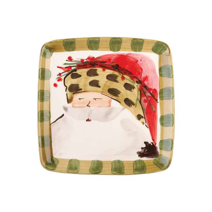 Old St Nick Square Salad Plate - Animal by VIETRI