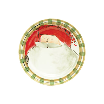 Old St Nick Round Salad Plate - Red Hat by VIETRI
