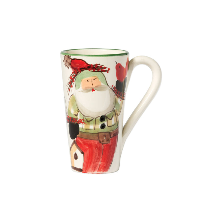 Old St Nick Latte Mug With Birds by VIETRI