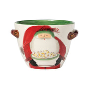 Old St. Nick Handled Deep Serving Bowl With Popcorn by VIETRI