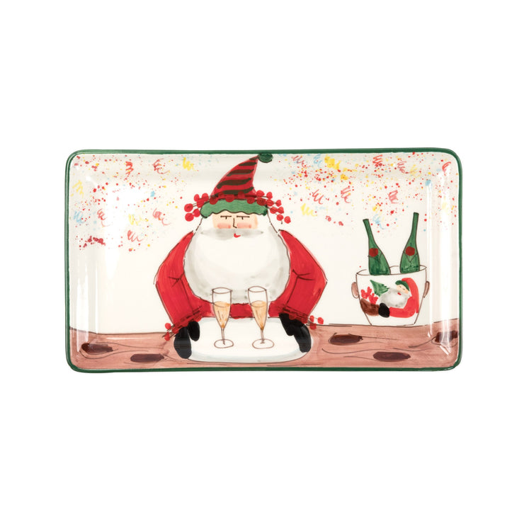 Old St. Nick 2018 Limited Edition Rectangular Platter by VIETRI