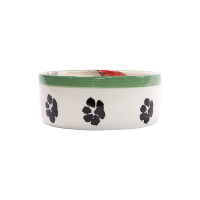Old St. Nick Dog Bowls by VIETRI