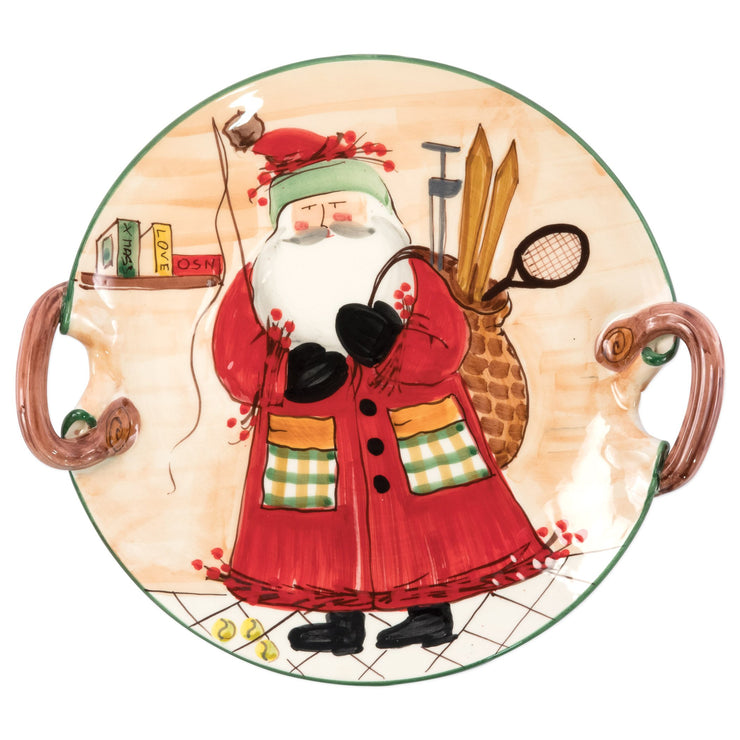 Old St. Nick Handled Round Platter - Assorted Sports by VIETRI