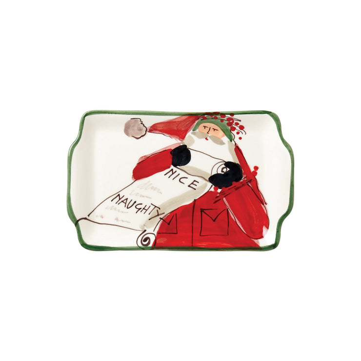 Old St. Nick Rectangular Plate - Naughty or Nice by VIETRI