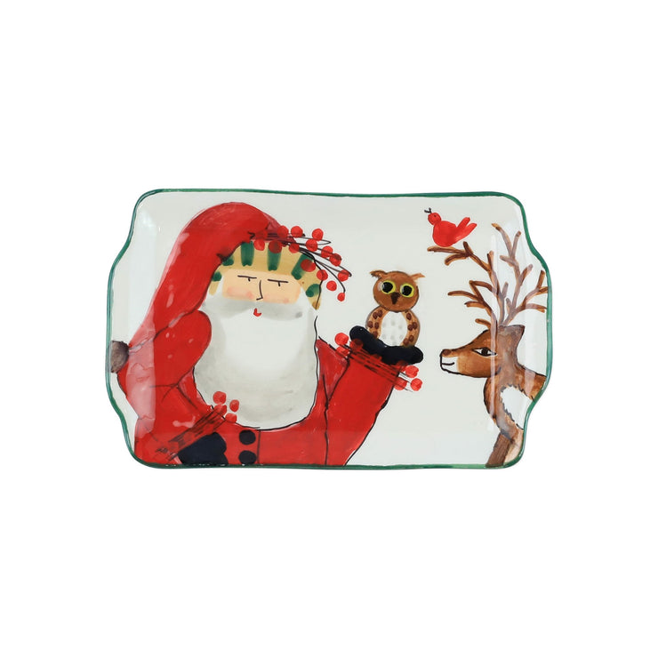 Old St. Nick 2019 Limited Edition Rectangular Plate by VIETRI