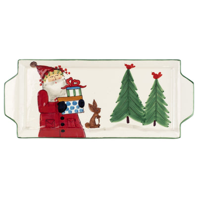 Old St. Nick Handled Rectangular Platter by VIETRI