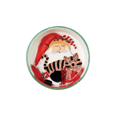 Old St. Nick Cat Bowl by VIETRI