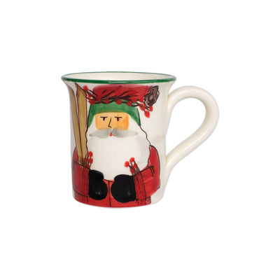 Old St. Nick Mug - Skiing by VIETRI