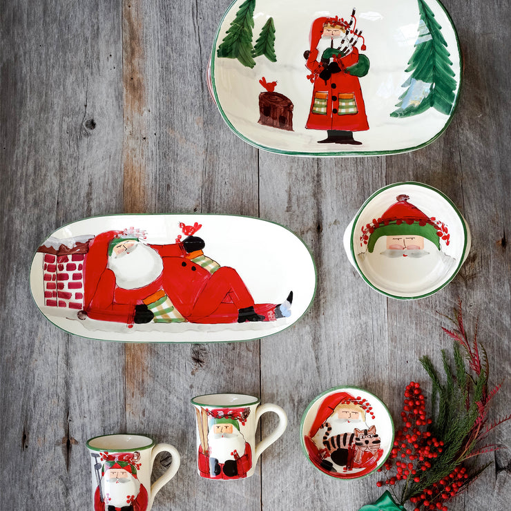 Old St. Nick Mug - Skiing