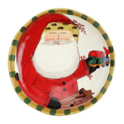 Old St. Nick Round Shallow Bowl w/ Train by VIETRI