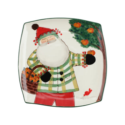 Old St. Nick Square Platter w/ Apples by VIETRI
