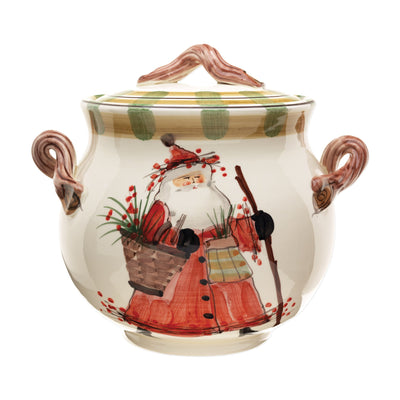 Old St Nick Biscotti Jar by VIETRI