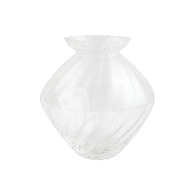 Ottico Glass Medium Swirl Vase by VIETRI