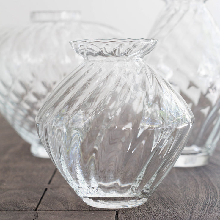 Ottico Glass Medium Swirl Vase