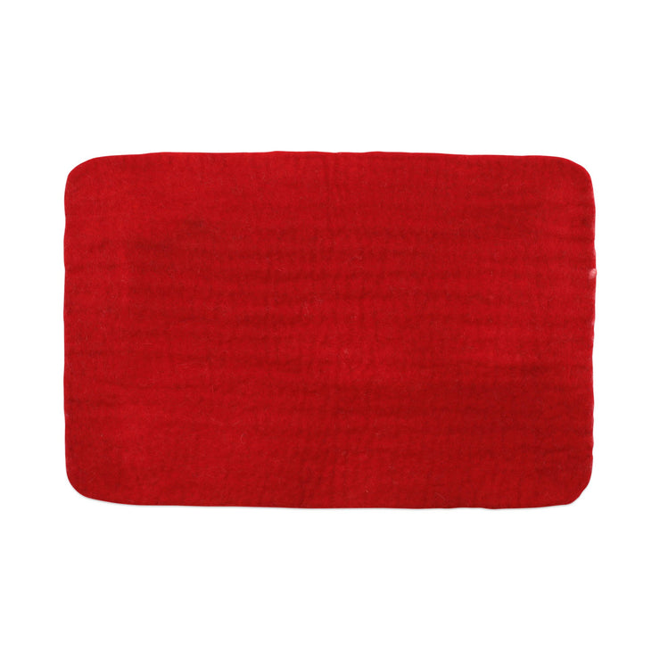 Pecora Red Rectangular Placemat - Set of 4 by VIETRI