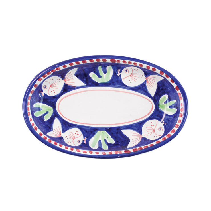 Campagna Pesce Small Oval Tray by VIETRI