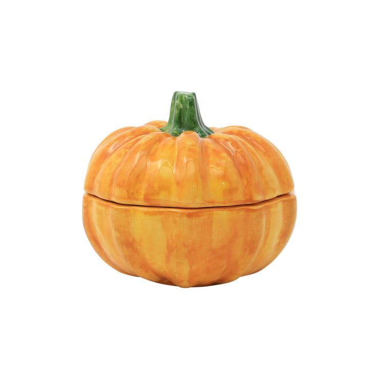 Pumpkins Figural Covered Small Pumpkin by VIETRI