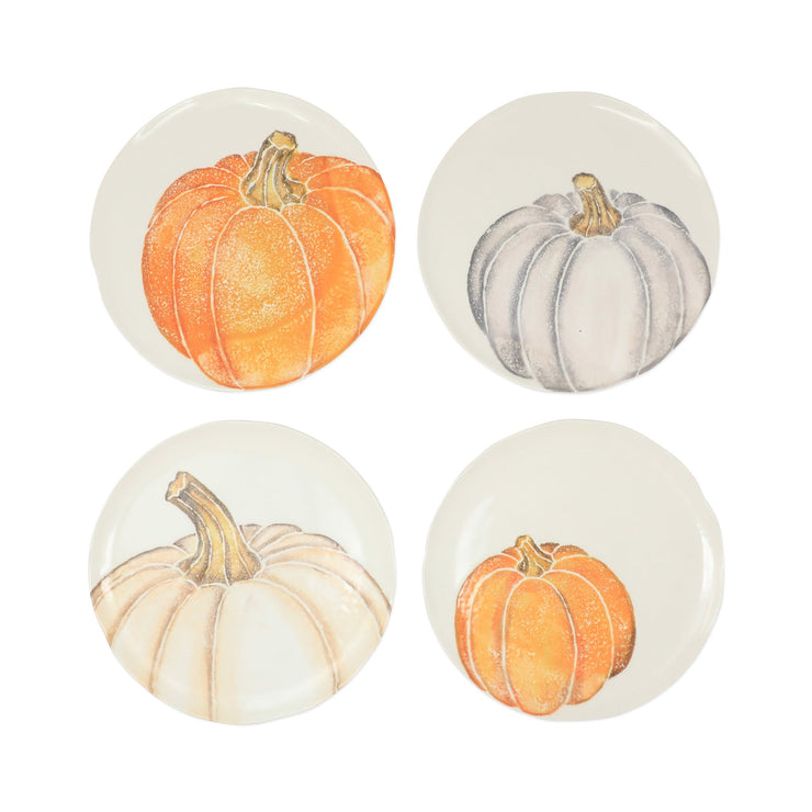 Pumpkins Assorted Salad Plates - Set of 4 by VIETRI