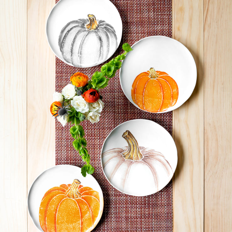 Pumpkins Salad Plate - Orange Small Pumpkin