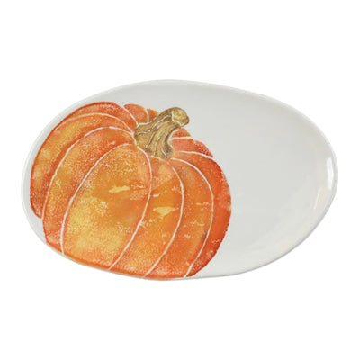 Pumpkins Small Oval Platter w/ Pumpkin by VIETRI