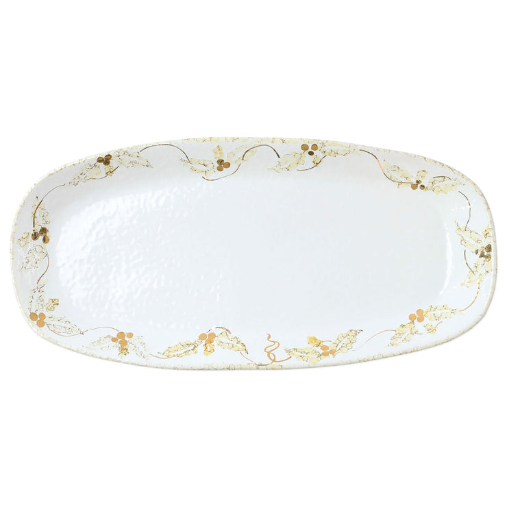 Perla Natale Holly Narrow Rectangular Platter by VIETRI