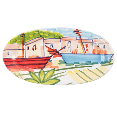 Portofino Small Oval Platter by VIETRI