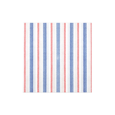 Papersoft Napkins Americana Stripe Dinner Napkins (Pack of 20) by VIETRI
