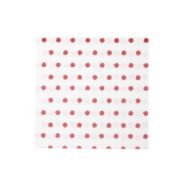Papersoft Napkins Red Dot Dinner Napkins (Pack of (20) by VIETRI
