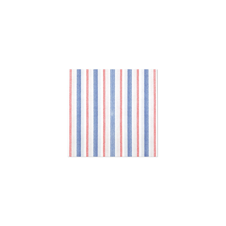 Papersoft Napkins Americana Stripe Cocktail Napkins (Pack of 20) by VIETRI