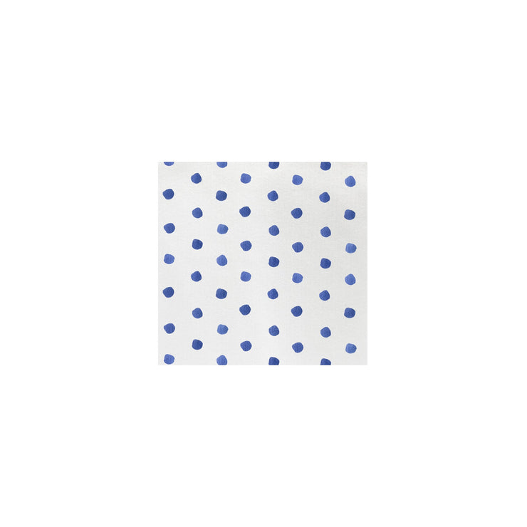 Papersoft Napkins Dot Blue Cocktail Napkins (Pack of 20) by VIETRI