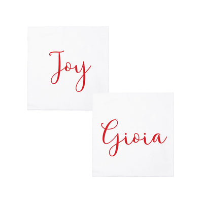 Papersoft Napkins Joy/Gioia Cocktail Napkins (Pack of 20) by VIETRI