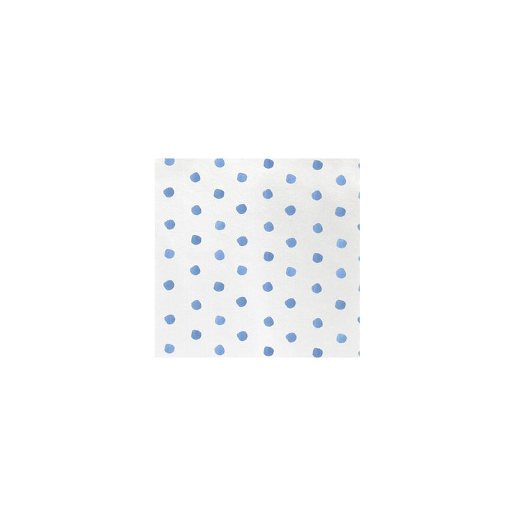 Papersoft Napkins Dot Light Blue Cocktail Napkins (Pack of 20) by VIETRI