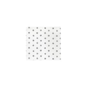 Papersoft Napkins Dot Light Gray Cocktail Napkins (Pack of 20) by VIETRI