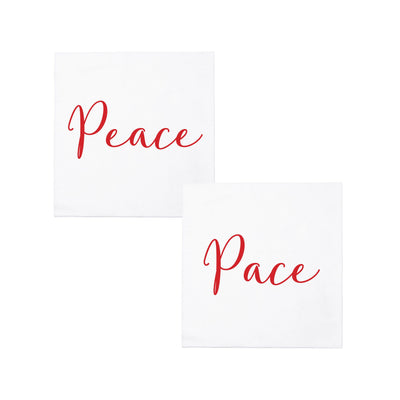 Papersoft Napkins Peace/Pace Cocktail Napkins (Pack of 20) by VIETRI