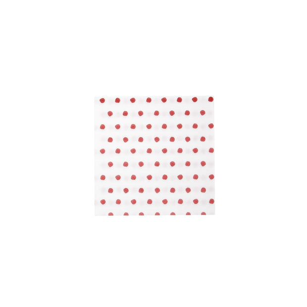 Papersoft Napkins Red Dot Cocktail Napkins (Pack of 20) by VIETRI