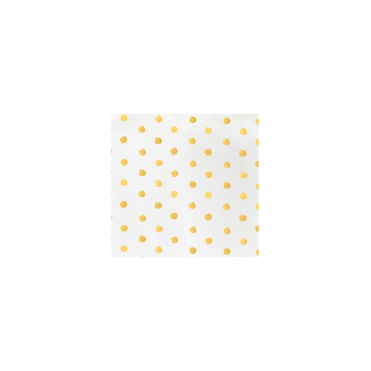 Papersoft Napkins Dot Yellow Cocktail Napkins (Pack of 20) by VIETRI
