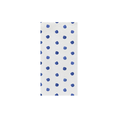 Papersoft Napkins Dot Blue Guest Towels (Pack of 20) by VIETRI