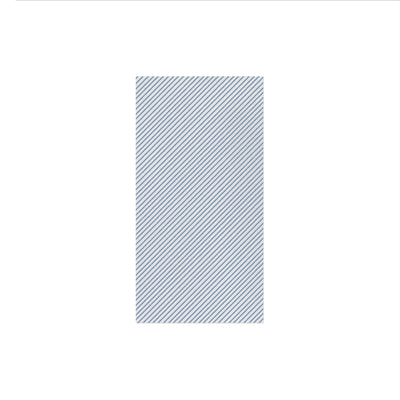 Papersoft Napkins Seersucker Stripe Blue Guest Towels (Pack of 20) by VIETRI