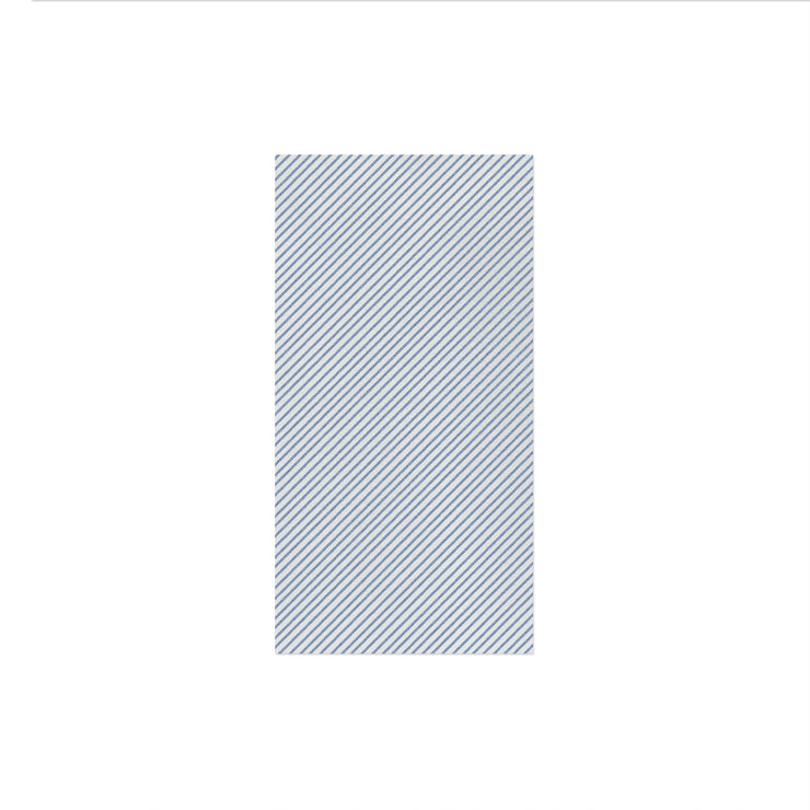 Papersoft Napkins Seersucker Stripe Blue Guest Towels (Pack of 50) by VIETRI