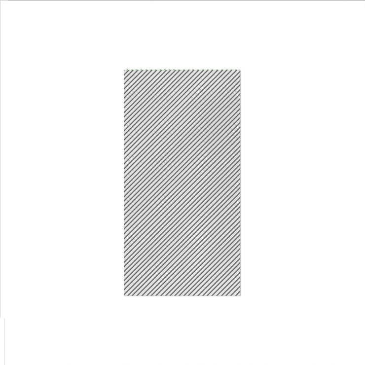 Papersoft Napkins Seersucker Stripe Gray Guest Towels (Pack of 20) by VIETRI
