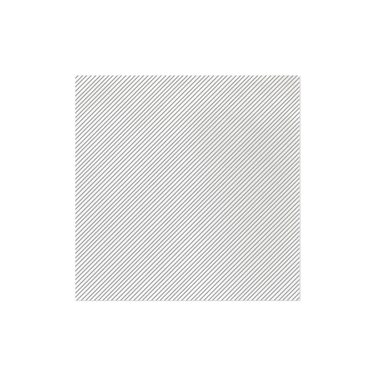 Papersoft Napkins Seersucker Stripe Light Gray Dinner Napkins (Pack of 50) by VIETRI