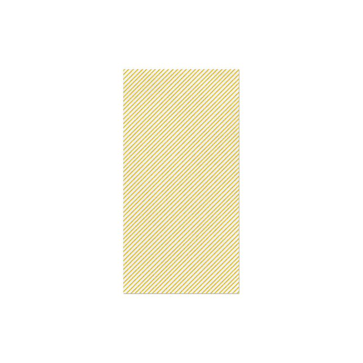 Papersoft Napkins Seersucker Stripe Yellow Guest Towels (Pack of 50) by VIETRI